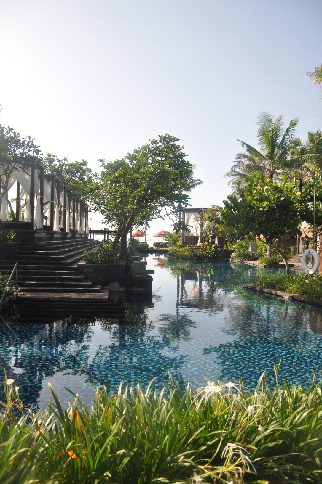 Part of the pool that extended around the resort.
