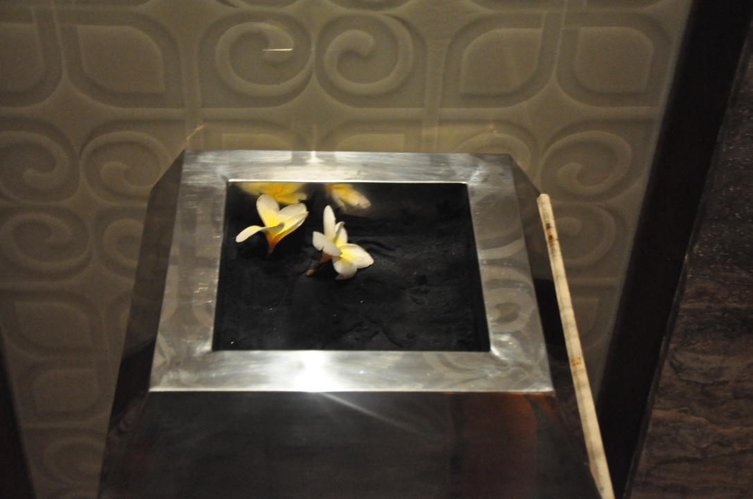 Even the ashtrays were lovely. The St. Regis seal was embossed in the black sand.