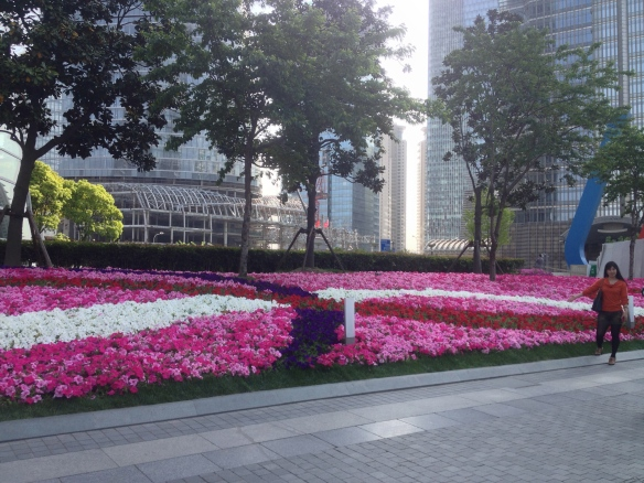 Outside the Shanghai World Financial Center.